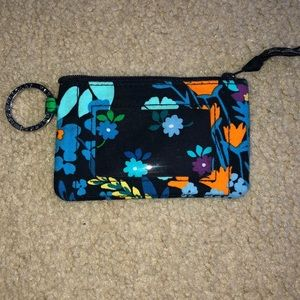Vera Bradley small photo ID clutch with pocket